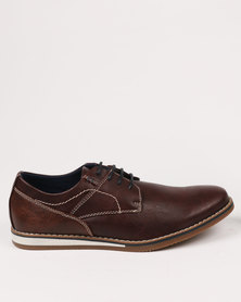 Zah Dylan Casual Lace Ups Brown