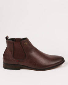 Zah Carlos Formal Boots Brown