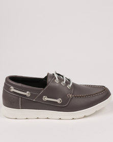 Newport Leather Casual Boat Shoe Var 001 Tempest Grey