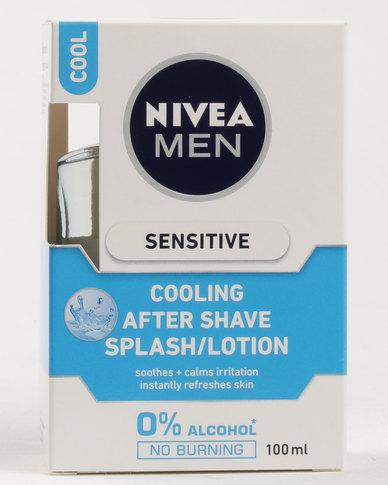 nivea men sensitive cooling after shave splash 100ml zando