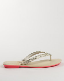 Grendha Ladies Casual Thongs Beige
