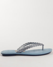 Grendha Ladies Casual Thongs Blue
