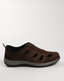 Bronx Men Marfield Leather Casual Slip On Shoes Coffee/Black