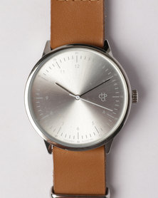CHPO Harold Watch Silver/Brown