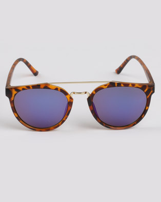 f88b1bc68b3c4 CHPO Copenhagen Turtle Mirror Lens Sunglasses Brown Blue