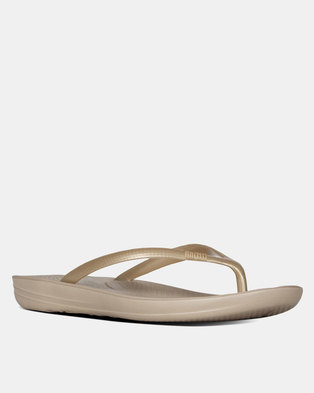 FitFlop iQushion Flip Flops Gold