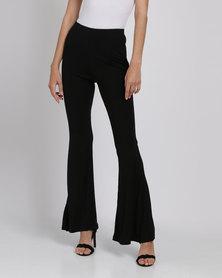 Catwalk 88 Stretched Flared Pants Black