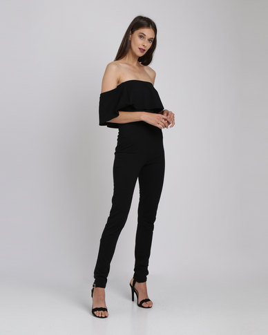 Catwalk 88 Off-The-Shoulder Jumpsuit Black