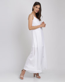 Catwalk 88 Cami Straps Maxi Dress Ivory