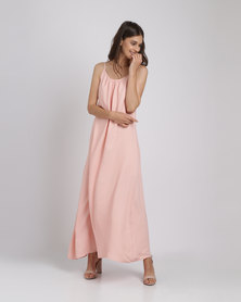 Catwalk 88 Cami Straps Maxi Dress Peach
