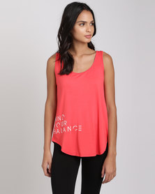 Utopia Find Your Balance Relaxed Vest Coral Melange