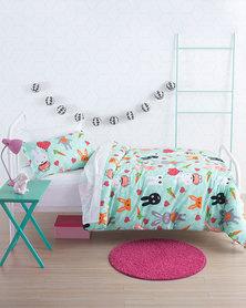 Linen House Hip Bunny Duvet Cover Set Green
