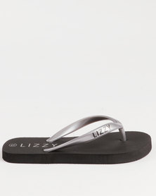 Lizzy Girls Teen Poppy Flip Flops Black