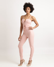 Sissy Boy Seth Jumpsuit With Corset Waist Pink