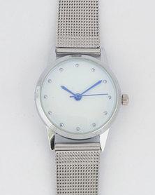 Digitime Darling Mesh Watch Silver-tone