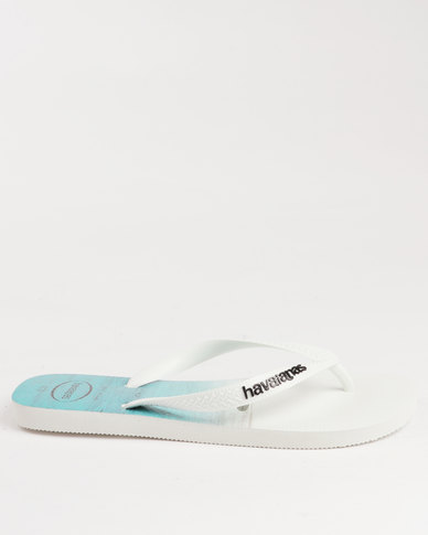 1c525db4b Havaianas Hype Flip Flops White Black