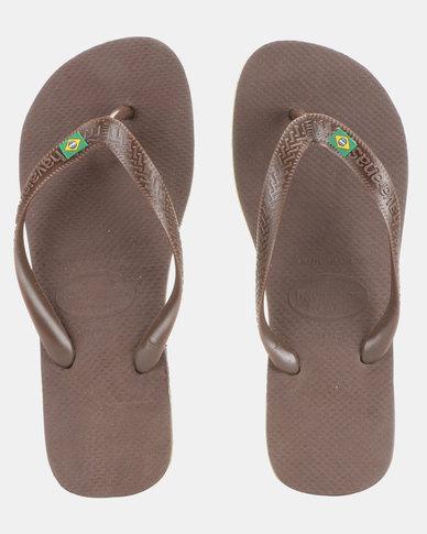 b0b4e773c51f59 Havaianas Brazil Flip Flops Dark Brown