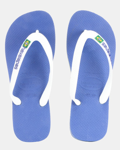 00da3179ae84fc Havaianas Brazil Logo Flip Flops Marine Blue