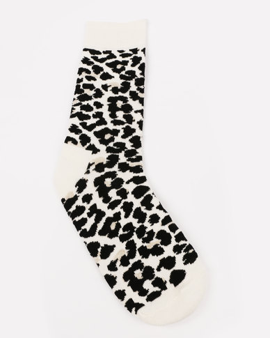 Happy Socks Leopard Socks Black/White