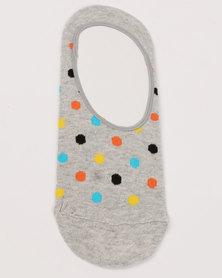 Happy Socks Dot Liner Socks Grey
