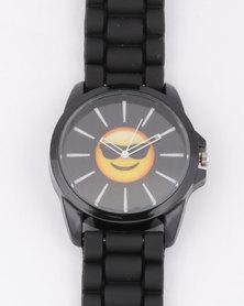 Emoji Cool Dude Watch Black