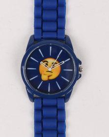 Emoji Thinking Watch Blue