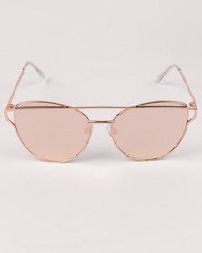 New Look Kady Hybrid Metal Bar Front Sunglasses Gold