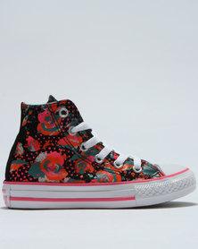 Converse Chuck Taylor Neon Floral Hi Top Sneaker Black