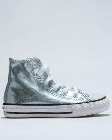 Converse Chuck Taylor Metallic Hi Top Sneaker Blue