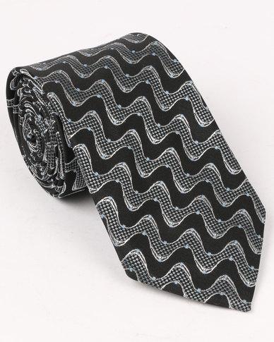 Joy Collectables Mens Formal Tie Black