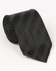 Joy Collectables Stripe Tie Black