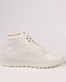 Paul of London Casual Lace Up High Top Sneaker White