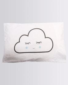 Knus Clouds Standard Pillow Case Set White