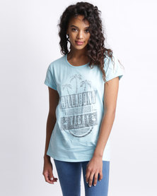 Billabong Vacay Box Fit Tee Blue-Green