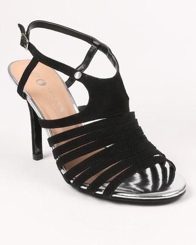 Franco Gemelli Franco Gemelli Juanita Heeled Sandal Black discount 2014 dY0Oz
