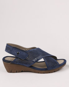 DR Hart DR Hart Skye Wedge Sandals Navy cheap sale 100% original free shipping nicekicks free shipping with mastercard cheap sale pay with visa for sale 2014 Qot5G4spi0