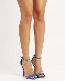 Utopia Wild Diva Patent Heeled Sandal Blue