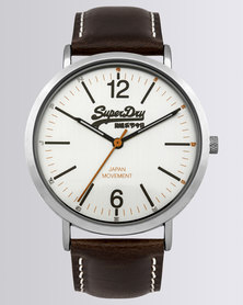 Superdry Oxford Leather Watch Brown