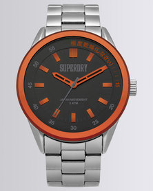 Superdry Regent Corporal Stainless Steel Watch Silver-tone