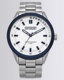 Superdry Regent Corporal Stainless Steel Bracelet Watch Silver-tone