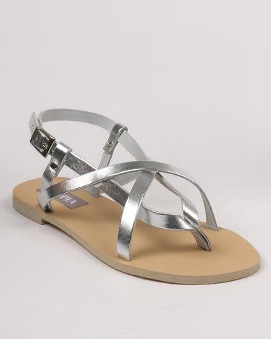 6aa68a13e4350c Utopia Strappy Leather Sandal Silver
