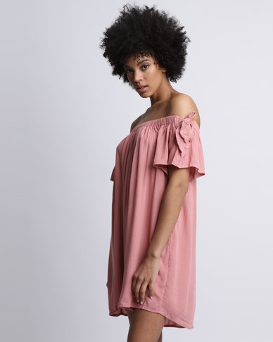 97f8438ba448 All About Eve Selma Off The Shoulder Dress Blush