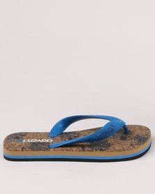 Lizzard Boys Teen Hawaii Flip Flops Blue