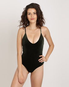 SALT Velvet One Piece Khaki