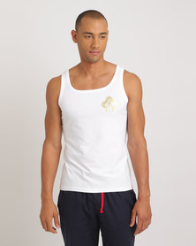 Jockey David Tlale Sleeveless Vest White