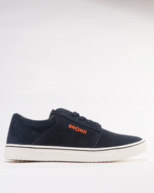 Bronx Gowran Suede Casual Lace Up Sneakers Navy