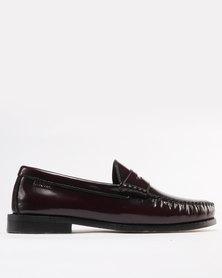 Bronx Hi Shine 2 Leather Formal Slip on Boat Shoes Oxblood
