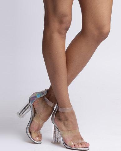 Dolce Vita Paris Metallic Block Heels Silver