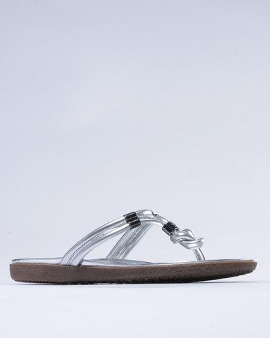 clearance 2014 newest official Julz Julz Norah Knot Sandals Grey cheap authentic MhUIYw