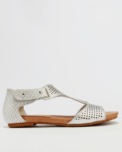 Shoe Art Ne Avery Sandals Silver